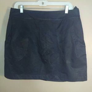 H&M 14 Black Shiny Mini Skirt